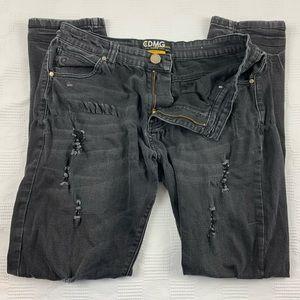 Caliber Denim black distressed jeans 34x32